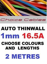 2M 1mm 12V Auto Cavo Auto Filo GUAINA, thinwall Automotive 16 bis, 1.0 mm 2 metri