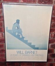 American Artist Will Barnet Exhibition Poster. Stairway To The Sea. 1980. Signed