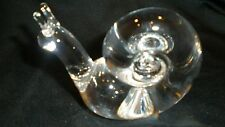 STEUBEN GLASS Snail - Escargot Slug Handcooler - SIGNED - Excellent Condition