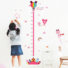 Mickey Mouse Minnie Height Measurement Chart Kids Wall Sticker Vinyl Decal Mural