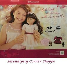 American Girl Samantha Doll Holiday Set with Party Dress Outfit & Coat Set NIB