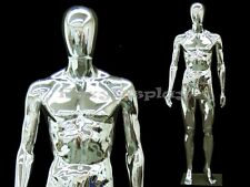 Male Unbreakable EggHead Plastic Chrome Mannequin  #PS-SM1SCEG