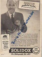 LILLEBORG/Norway, Werbung 1940, SOLIDOX Qualitäts-Zahnpasta gegen Zahnstein