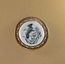 State Birds and Flowers Miniature Mini Plate UTAH Sea Gull Sego Lily