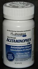 PlusPharma Acetaminophen PM Extra Strength 500mg/25mg Tablets 50ct (Tylenol PM)