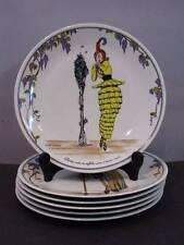 """VILLEROY & BOCH DESIGN 1900 SET 6 DINNER PLATES ART DECO NOUVEAU, 10"""""""