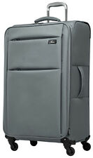 """Skyway Luggage Fl-Air 24"""" 4 Wheeled Expandable Upright Suitcase - Grey"""