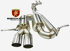 BECKER CatBack Exhaust System Fits 2008-2013 BMW135i Turbo 3.0L I6 N54B30/N55B30
