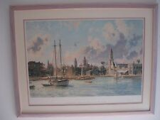 """John Stobart  """"St. Augustine""""  A View of the Plaza and the Ponce De Leon"""