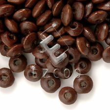 30g 810pcs Approx Rondelle Spacer Wooden Wood Beads Brown 3x6mm CFWB0042