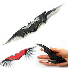 Outdoor Batman Two Dual Bladed Knife Folding Knife Tool The Dark Knight DA