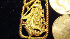 bling gold plated navy nautical sailboat pendant charm chain hip hop necklace gp