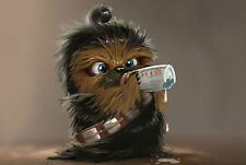 A4 Poster - Funny Baby Wookie (Star Wars DVD Blu-Ray Jedi Picture Print Art)