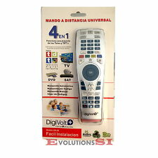 MANDO A DISTANCIA UNIVERSAL DIGIVOLT PARA TELEVISION TDT DVD LG SONY PHILIPS