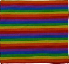 Bandana Bandanna Cotton Pet Dance Rave Parade Head Wrap Multi-colour Rainbow