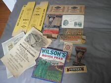 Vintage Advertising Lot: Boxes, booklets, Labels,10+ pieces- very nice graphics