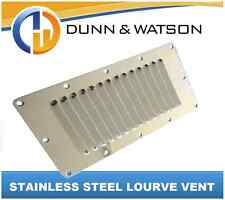 Stainless Steel Lourve Vent 127mm x 228mm - Caravan, Horse Float, Camper Trailer