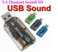 5.1USB to 3.5mm mic headphone Jack Stereo Headset 3D Sound Card Audio Adapter PC