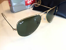 Ray Ban Aviator Sunglasses RB3025 L0205 58-14 Gold Frame Green Lens