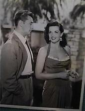 """1950s ROBERT MITCHUM AND JANE RUSSELL MACAO GLOSSY 8 X 10"""" PHOTO VERY GOOD COND"""