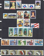 US 1990 Commemorative Year Set w/ Airmail & Booklet Stamps - MNH Fresh*