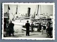 Galdin, France, Marseille, Bateau dans le Port de Marseille  Vintage silver prin