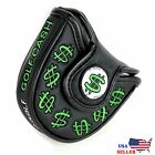 Cash Money Black MALLET  Putter Cover Headcover For Scotty Cameron Odyssey 2ball