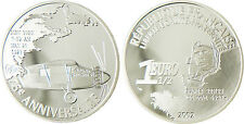 1  EURO 1/2  ARGENT  2002  TRAVERSÉE ATLANTIQUE LINDBERGH , EN CAPSULE , BE