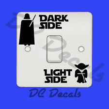 STAR WARS - DARK SIDE LIGHT SIDE Light Switch Sticker Vinyl Decal Funny Wall Art