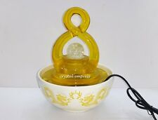 Feng Shui - 2016 Yellow Lucky Figure 8 Water Feature / Fountain for Prosperity