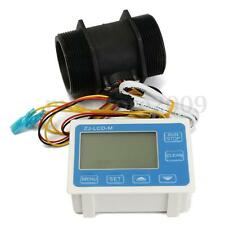 "G 2"" Inch Flow Water Sensor Meter LCD Display Quantitative Control High Precisio"