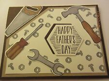 Stampin Up Happy Father's Day Tool card - hammer, saw, screwdriver