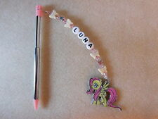 Personalised 3DS Stylus / Pen / with charm My Little Pony Fluttershy Pink