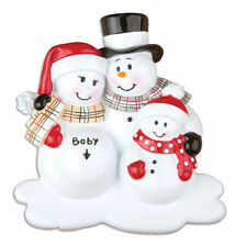 North Pole Family We're Expecting w/1 Child Personalized Christmas Tree Ornament