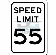 Speed Limit 55 MPH Sign - aluminum sign 8x12