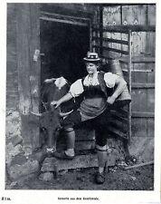Auf der Alm: Unterinntal Sennerin * Historische Aufnahme alter Berufe von 1911