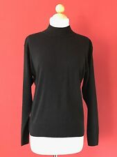NWT TINA Best Quality Scotland Made Black Pure Cashmere Sweater Size L NEW