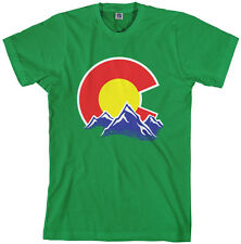 Threadrock Men's Colorado Mountain T-shirt state denver