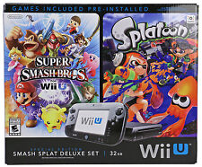 New Nintendo Wii U Console With Super Smash Bros Splatoon and Bundle Deluxe