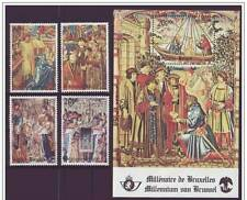Belgium**Brussels 1000 Years-SHEET+SET 4vals-1979-Middle Ages-Knights-Horse-MNH