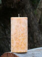 40hr BROWN SUGAR & FIGS Triple Scented Pillar CANDLE Home Fragrances with AMBER