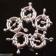 100pcs 10mm Silver Plated wheel Circle Clasp Finding Necklace