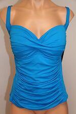 NWT La Blanca Swimsuit Bikini Tankini Top Size 14 BRB