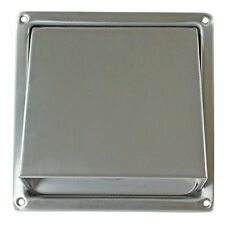 UNIVERSAL VENT ADAPTOR COWL AND FLAP STAINLESS STEEL NON RETURN FLAP 100MM 4""