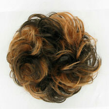 chouchou peruk cheveux chocolat méché cuivré clair ref: 17 en 627c