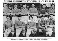 Middlesbrough equipo de impresión 1954 (wayman/harris/scott / Robinson)