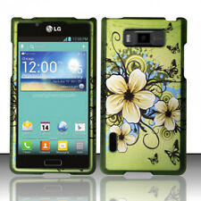 For LG Optimus Showtime L86c Rubberized HARD Case Phone Cover Hawaiian Flowers