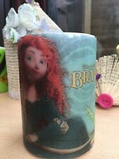 Disney's  BRAVE Featuring MERIDA HAND DECORATED PILLAR CANDLE