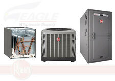 Rheem 80% 125,000 BTU Single Stage Gas Furnace + 4 Ton 15.1 SEER A/C System