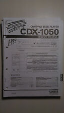 Yamaha cdx-1050 service manual original repair book cd compact disc player